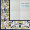 ASK 1100 Portuguese painted border tiles Azulejos