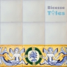 ASK 1101 Portuguese painted border tiles Azulejos