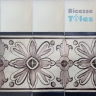ASK 1103 Portuguese painted border tiles Azulejos