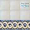 ASK 1106 Portuguese painted border tiles Azulejos