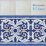 ASK 1108 Portuguese painted border tiles Azulejos