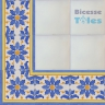 ASK 1112 Portuguese painted border tiles Azulejos