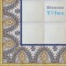 ASK 1113 Portuguese painted border tiles Azulejos
