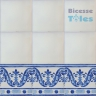 ASK 1114 Portuguese painted border tiles Azulejos