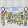 ASK 1116 Portuguese painted border tiles Azulejos