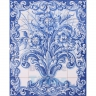 ASK 1523 Traditional Flowers Vase Panel