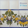 ASK 1294 Portuguese painted border tiles Azulejos