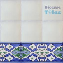 ASK 1297 Turkish Arab painted border tiles