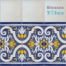 ASK 1299 Portuguese painted border tiles Azulejos