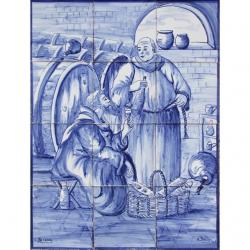 1412 Portuguese artistic panel tile