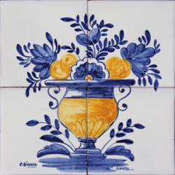 1414 Portuguese traditional panel Tile