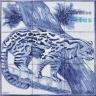 ASK 1486 Wild Animals Tiles Panel