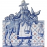 ASK 1495 Traditional Cut-Out Tiles Panel Mural