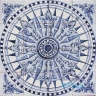 ASK 1496 Portuguese wind rose tiles panel