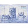 ASK 1497 Portuguese tiles Mural Belém Tower
