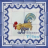 ASK 1499 Traditional Rooster Tiles Panel