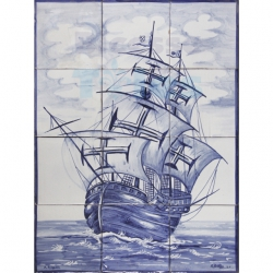 ASK 1514 Nautical Caravel Tiles Mural