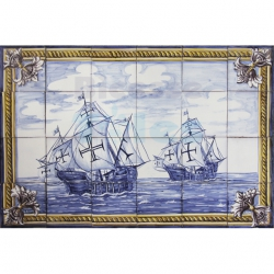 ASK 1515 Nautical Caravel Tiles Mural