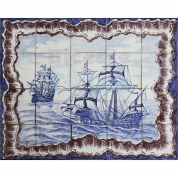 ASK 1516 Nautical Caravel Tiles Mural