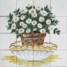 ASK 1519 Daisies Flowers Tiles Mural
