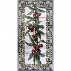 ASK 1524 Fruits Cherries Tiles Panel