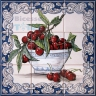 ASK 1536 Fruits Cherries Tiles Panel