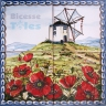 ASK 1540 Windmill Landscape Tiles Panel