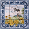 ASK 1542 Windmill Landscape Tiles Panel