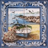 ASK 1544 Traditional Fishing Boats Tiles Panel