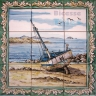 ASK 1546 Traditional Fishing Boats Tiles Panel