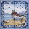ASK 1547 Traditional Fishing Boats Tiles Panel