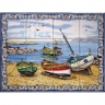 ASK 1548 Traditional Fishing Boats Tiles Panel