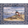 ASK 1549 Traditional Fishing Boats Tiles Panel