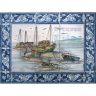 ASK 1550 Traditional Fishing Boats Tiles Panel