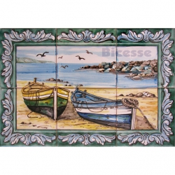 ASK 1551 Traditional Fishing Boats Tiles Panel