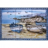 ASK 1552 Traditional Fishing Boats Tiles Panel
