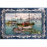 ASK 1555 Traditional Fishing Boats Tiles Panel