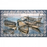 ASK 1557 Traditional Fishing Boats Tiles Panel