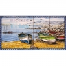 ASK 1558 Traditional Fishing Boats Tiles Panel