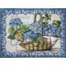 ASK 1560 Traditional Flowers Basket Tiles Panel