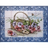 ASK 1561 Traditional Flowers Basket Tiles Panel