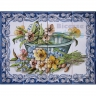 ASK 1562 Traditional Flowers Basket Tiles Panel