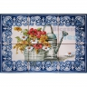 ASK 1564 Watering Pot Plants Flowers Tiles Panel