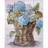 ASK 1566 Traditional Flowers Basket Tiles Panel