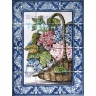 ASK 1567 Traditional Flowers Basket Tiles Panel