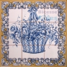 ASK 1572 Traditional Flowers Basket Tiles Panel