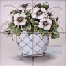 ASK 1573 Traditional Flowers Pot Tiles Panel