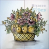 ASK 1574 Traditional Flowers Basket Tiles Panel