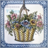 ASK 1575 Traditional Flowers Basket Tiles Panel