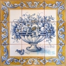 ASK 1576 Traditional Flowers Vase Tiles Panel